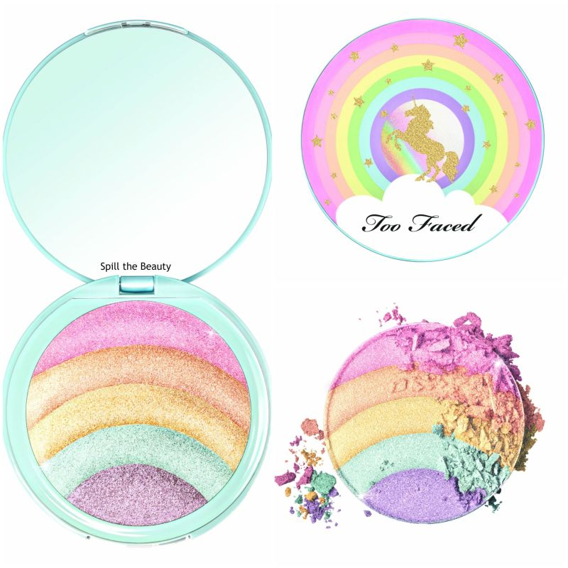 too faced lifes a festival collection rainbow strobe rainbow effect highlighter