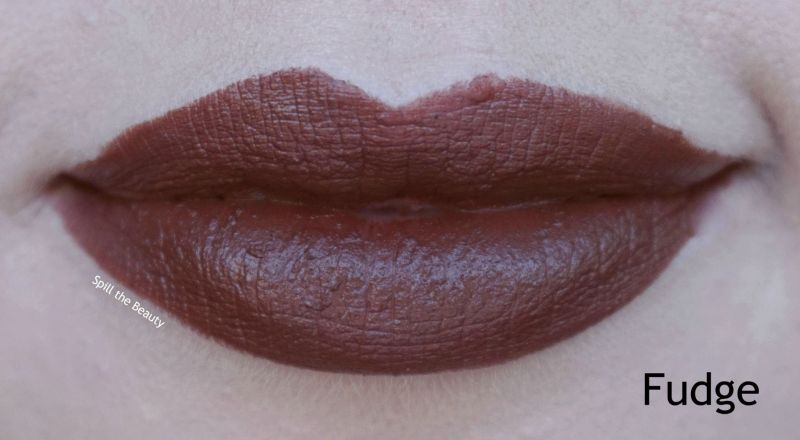 dose of colors satin lipstick fudge swatch comparison dupe