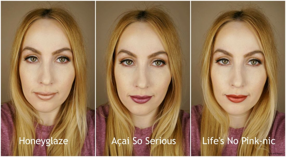 wet n wild liquid catsuit metallic liquid lipstick review swatches honeyglaze acai so serious lifes no pink-nic