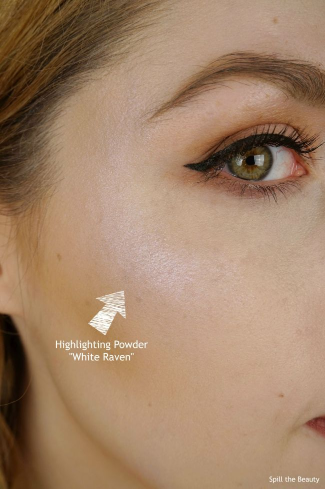 wet n wild goth o graphic swatches review highlighters white raven