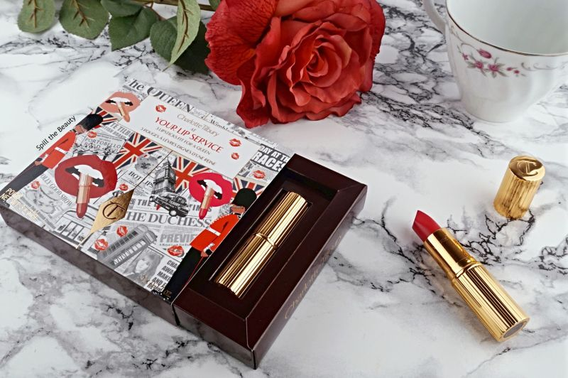 charlotte tilbury at your lip service royal lipstick trio review swatches the queen the duchess legendary queen