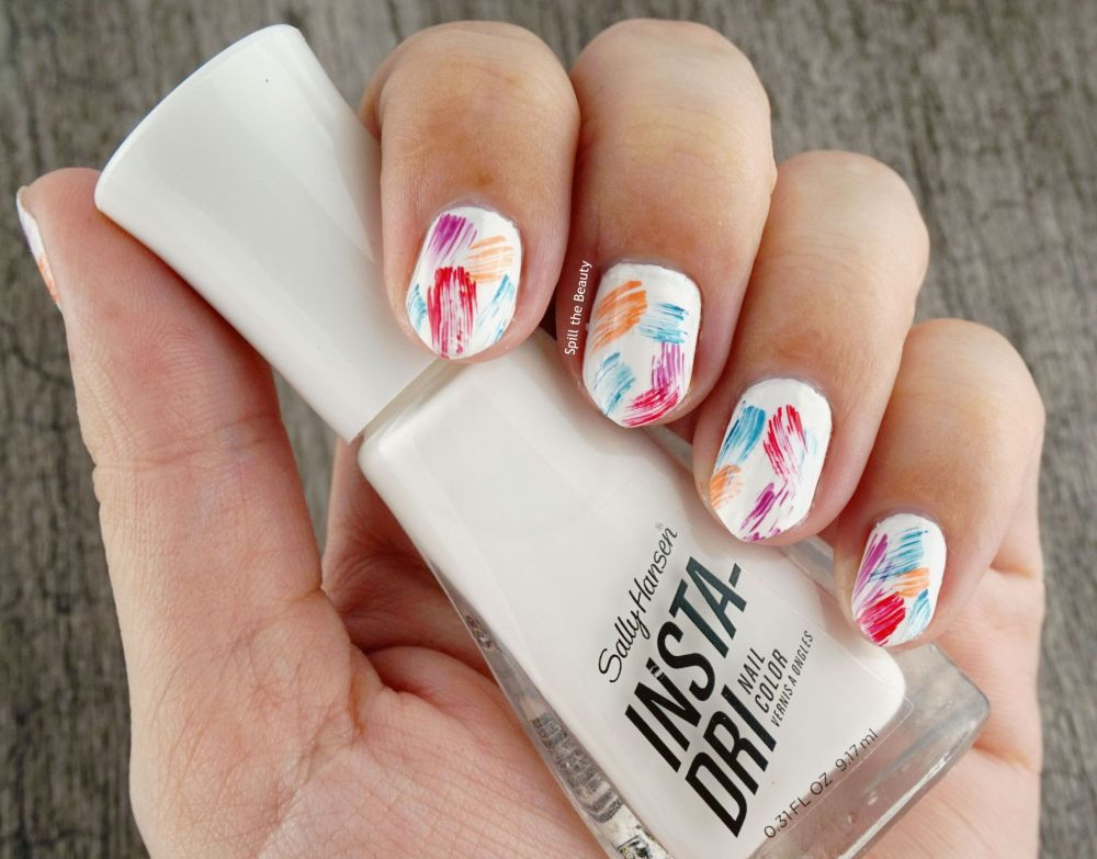 Nail Art Tutorial – Tropical Brushstrokes