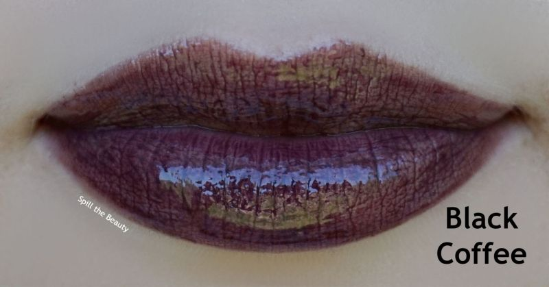 bite beauty french press lip gloss review swatches black coffee