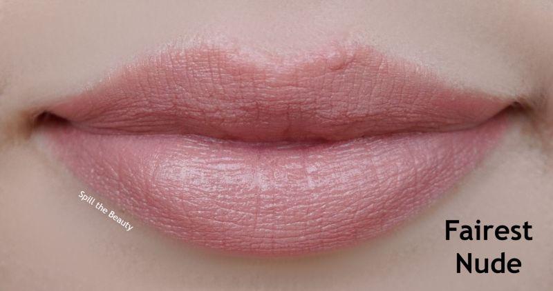 loreal colour riche fairest nude swatches comparison dupe