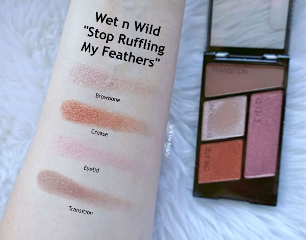 wet n wild flights of fancy eyeshadow review swatches stop ruffling my feathers