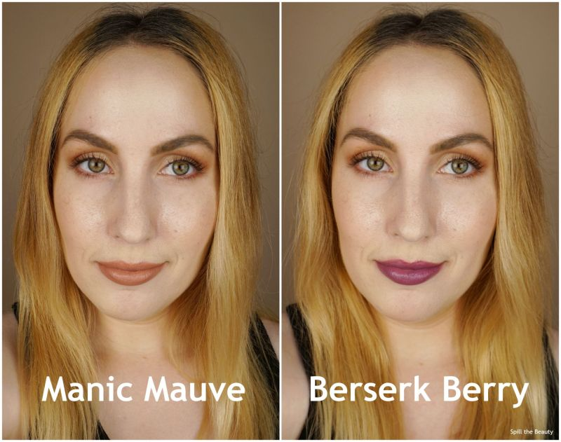 lipstick queen method in the madness manic mauve berserk berry review swatches