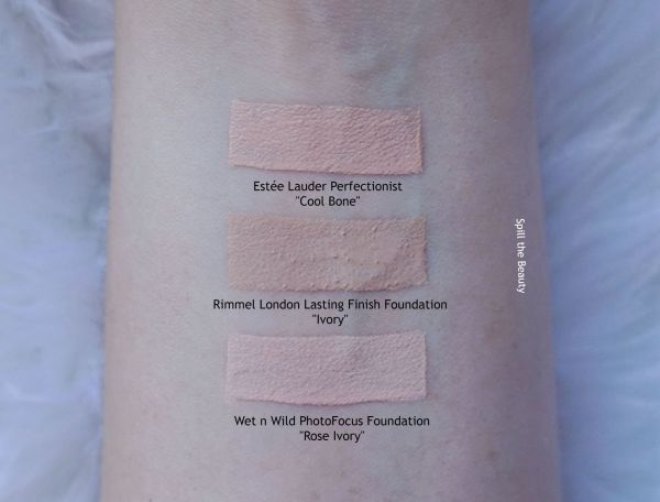 rimmel london lasting finish foundation ivory review swatches before and after