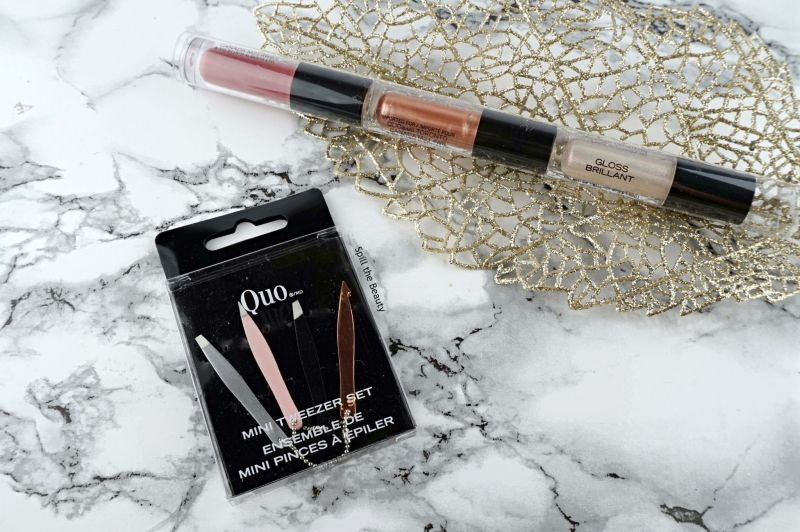 mini gifts quo lip gloss tweezer set