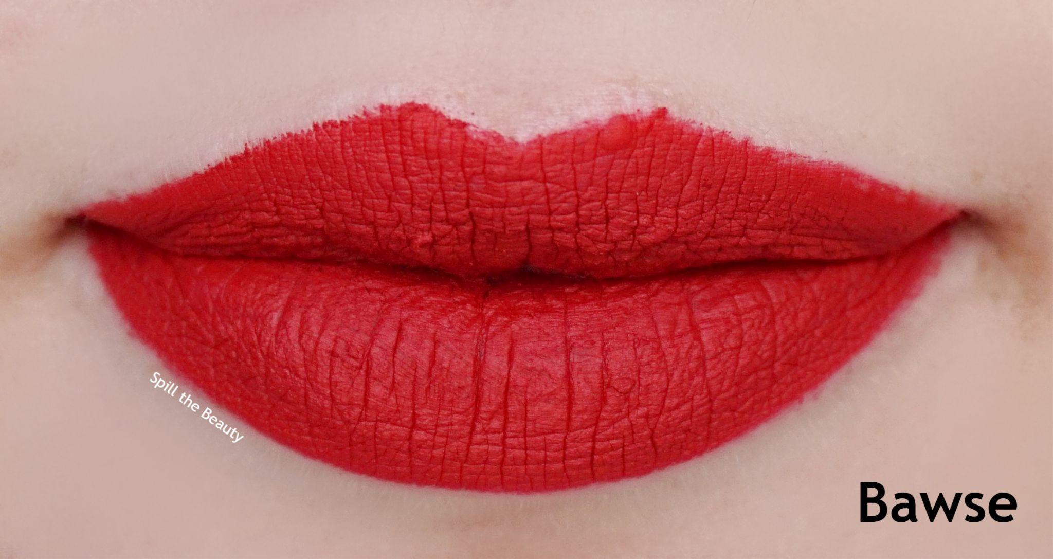 Lip Swatch Saturday  Smashbox Liquid Lipstick Bawse