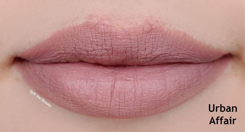rimmel urban affair liquid lipstick swatches