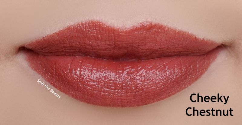lipstick queen nothing but the nudes swatches cheeky chestnut