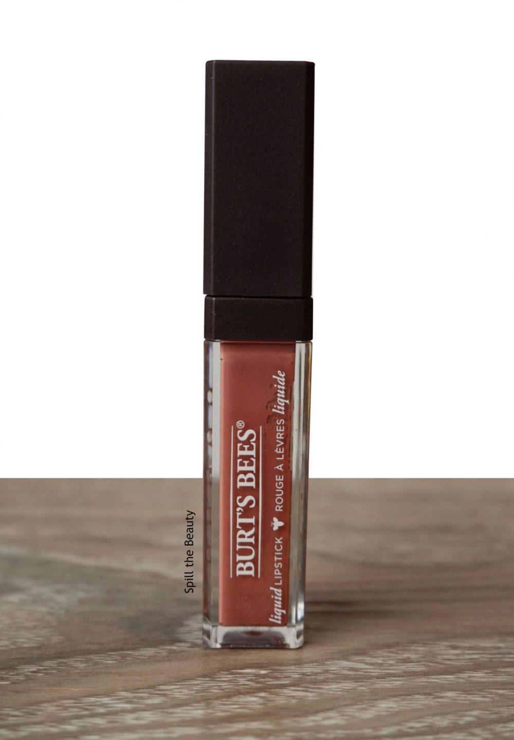 "Lip Swatch Sunday – Burt's Bees Liquid Lipstick ""Niagara Nude"""