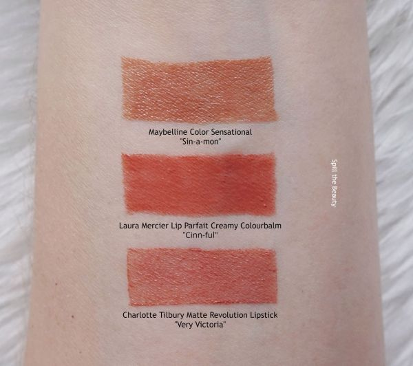 Laura Mercier cinnful swatches