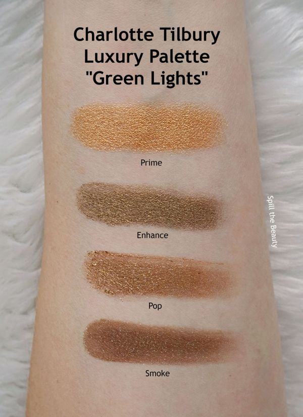 charlotte tilbury green lights swatches