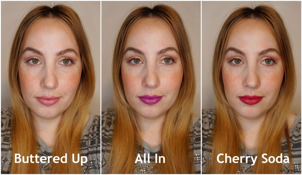 quo beauty lipstick review swatches buttered up all in cherry soda
