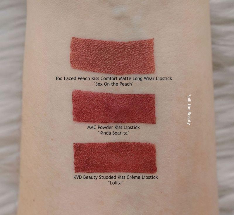 mac kinda soarta lipstick swatch dupe