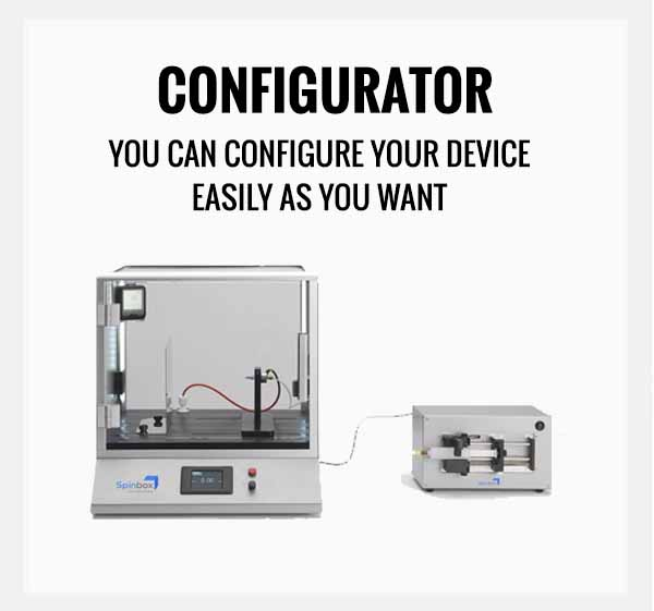 """Spinbox Electrospinning Configurator. """"You can configure your device as easily as you want"""""""