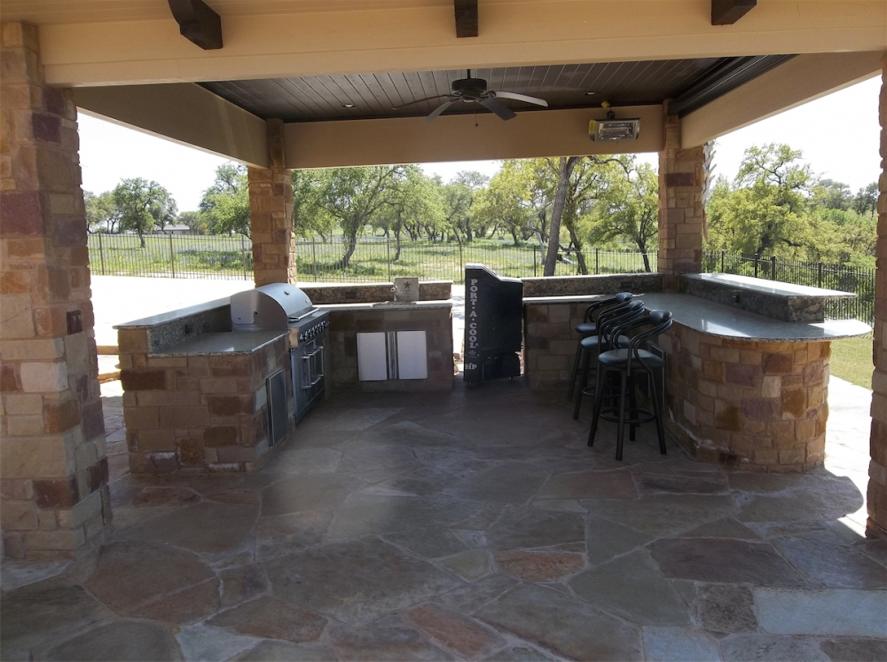 remodeling kitchen island bar height outdoor kitchens - spindler construction austin texas ...