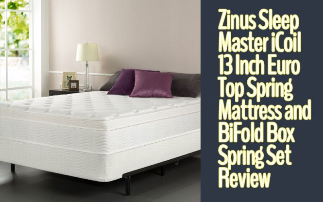 Zinus Sleep Master Icoil 13 Inch Euro Top Spring Mattress And Bifold Box Set