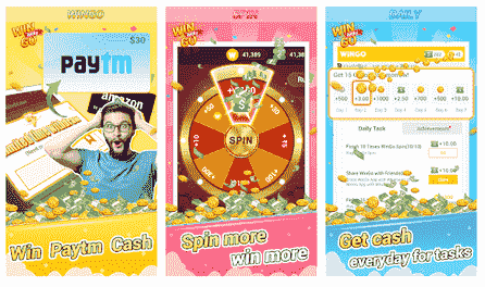 Spin and Earn Paytm cash WinGo-QUIZ App