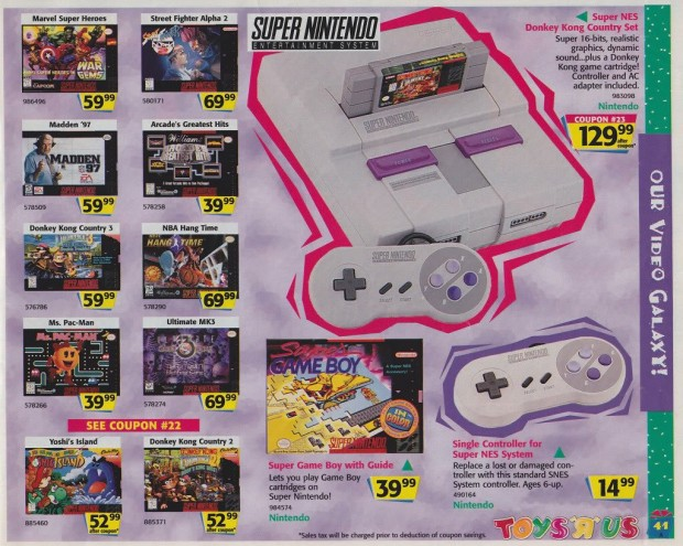 1996 Toys 'R' Us Video Game Ads - Super Nintendo