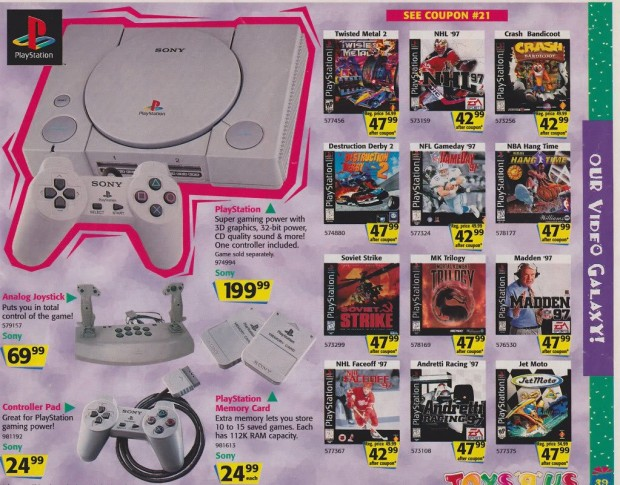 1996 Toys 'R' Us Video Game Ads - Playstation