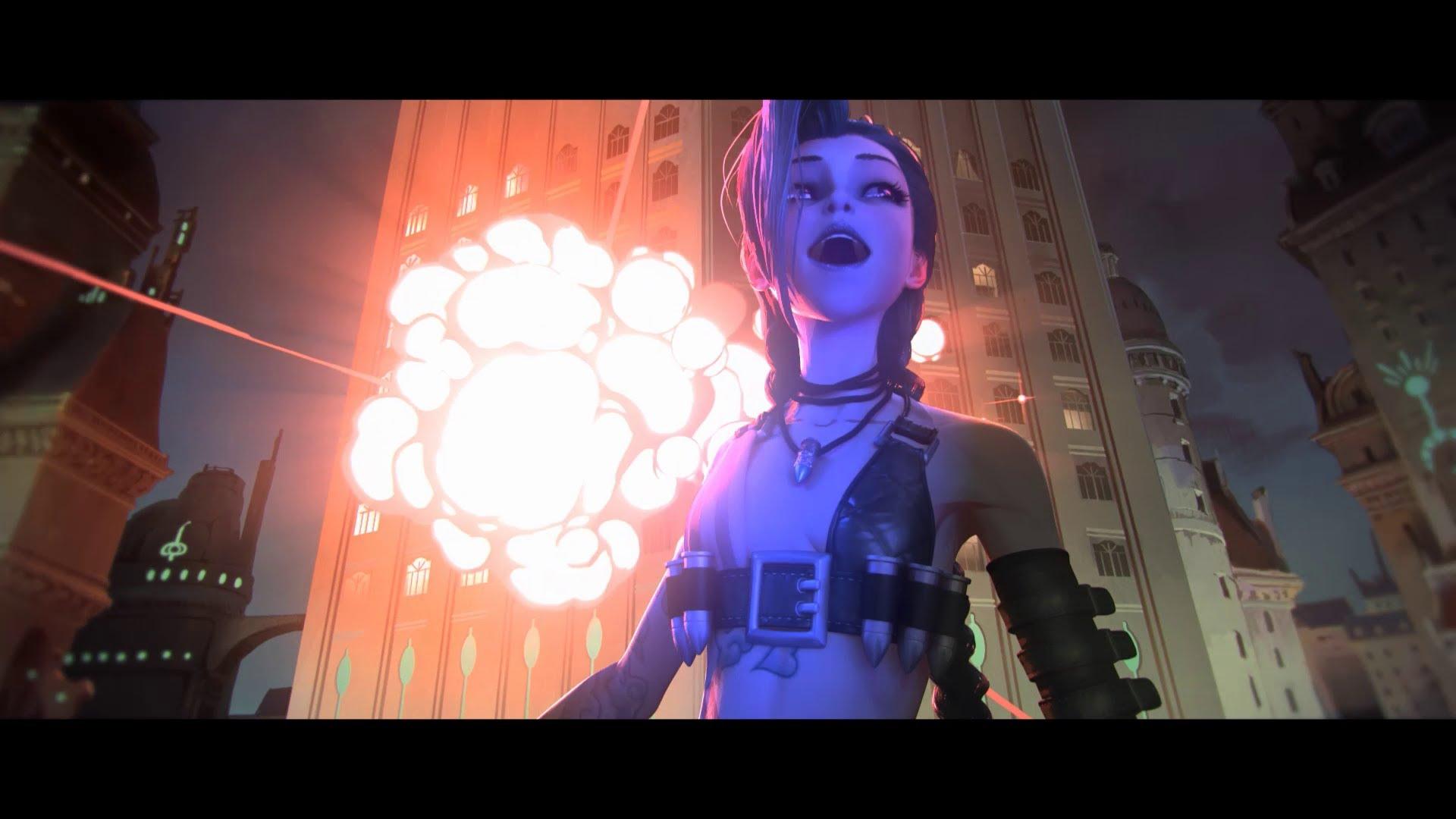 Wallpaper Geek Girl League Of Legends Music Video Get Jinxed Spinning