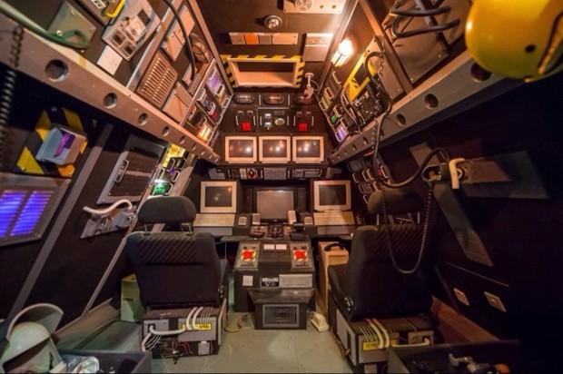 Spaceship Retro Game Room