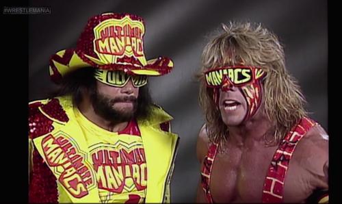 The Ultimate Warrior and Macho Man Randy Savage