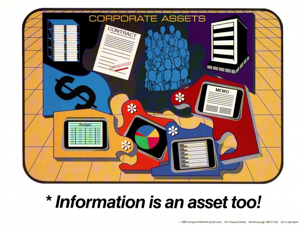 Information is an asset too! - 80s Sysadmin Posters