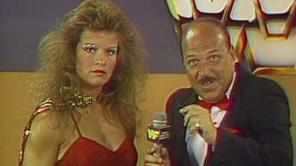 mean gene okerlund laughing during a promo
