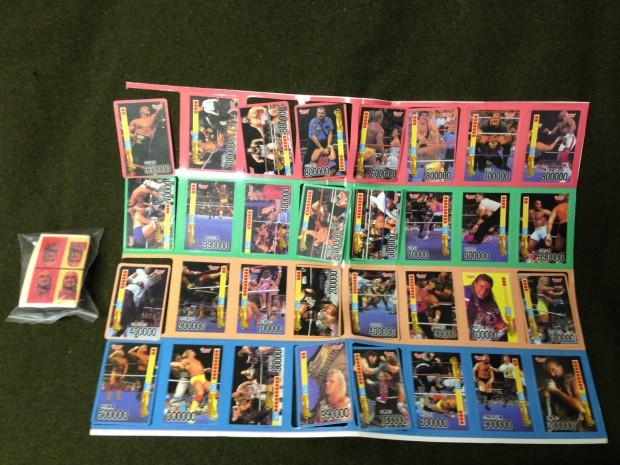 Korean Bootleg WWF Board Game 1993 Cards