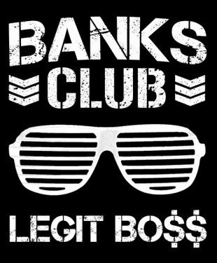 Banks Club - WWE NXT Diva Sasha Banks x NJPW's Bullet Club Mashup T-Shirt - Legit Boss