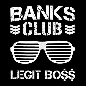 Banks Club T-Shirt - WWE NXT Diva Sasha Banks and NJPW Bullet Club Logo