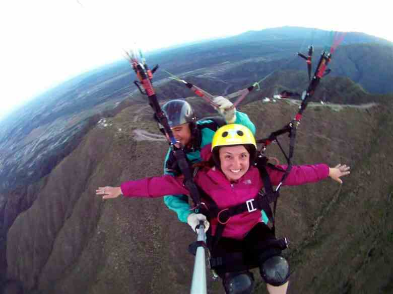 paragliding in Argentina
