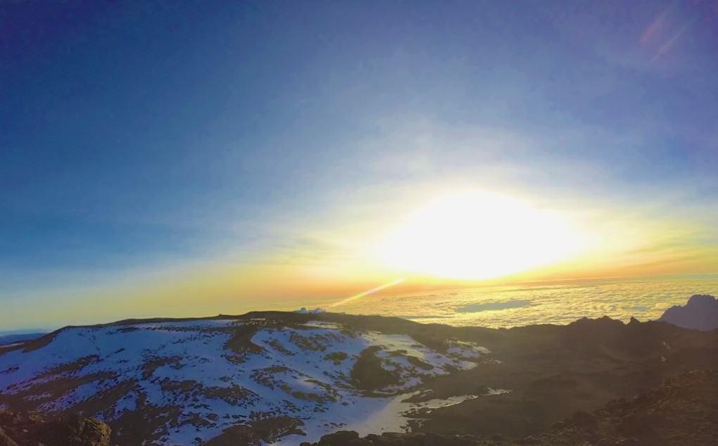 sunrise over mount kilimanjaro
