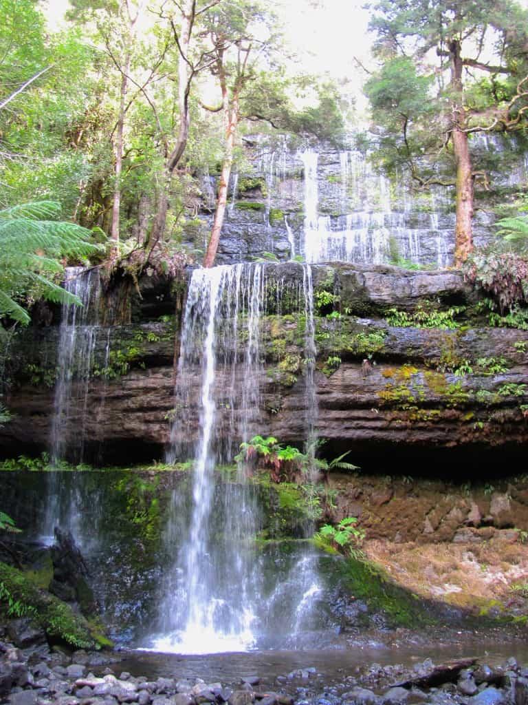 waterall in tasmania
