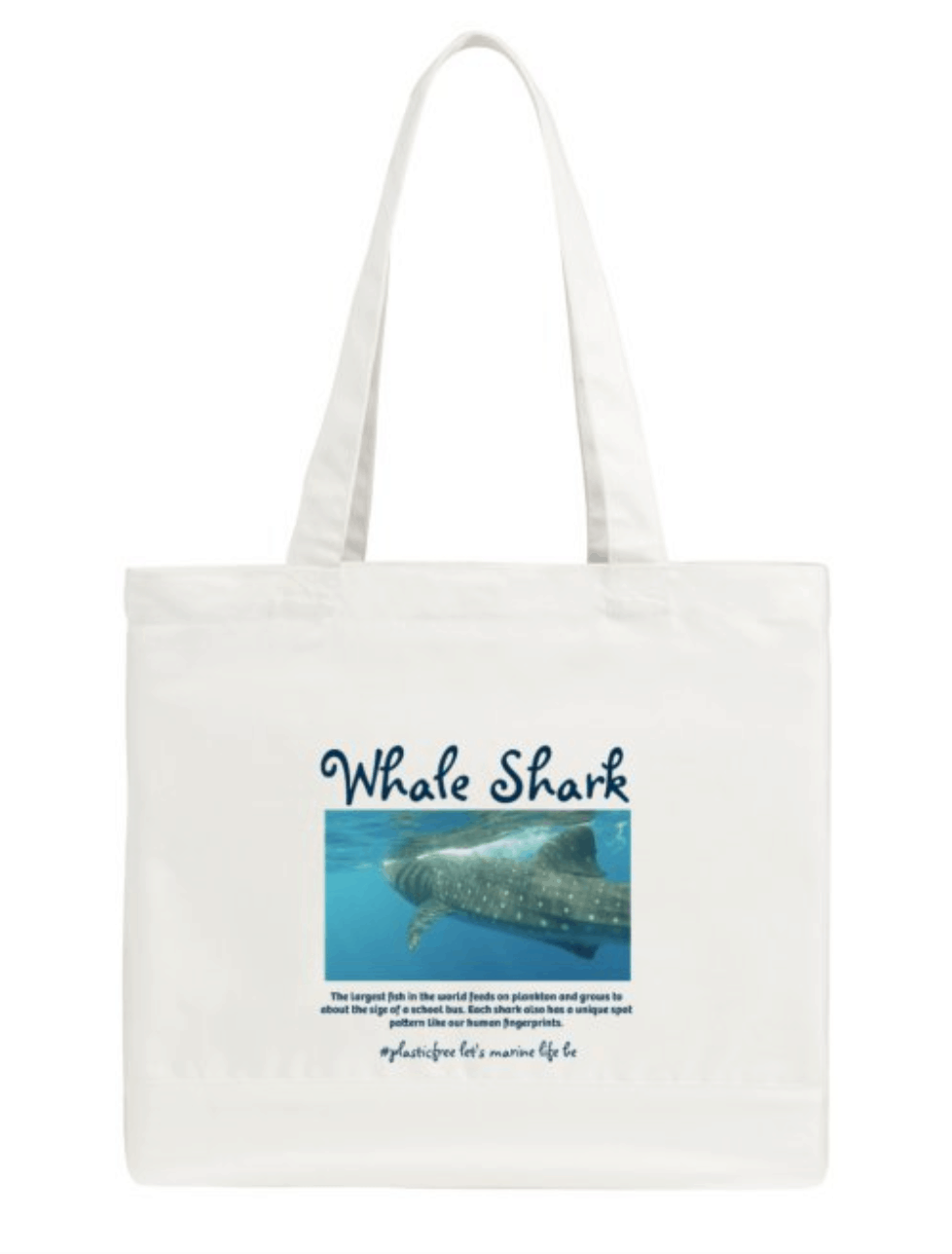 Sharks Swimming Tote Shopping Bag For Life