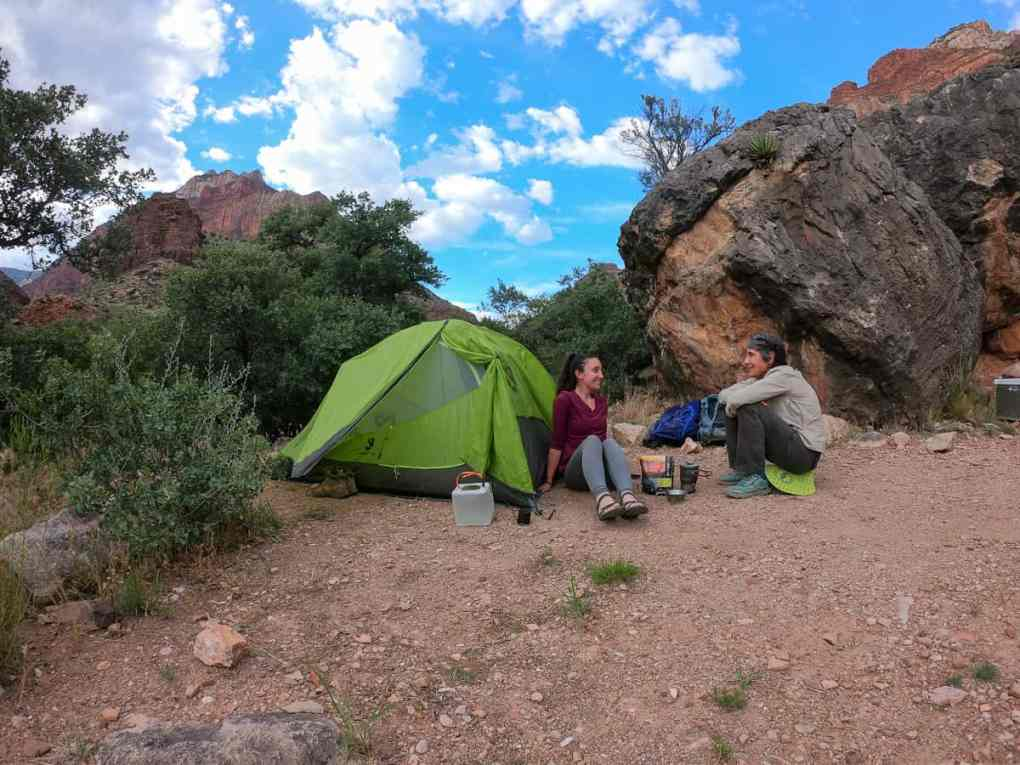 camping at cottonwood campground