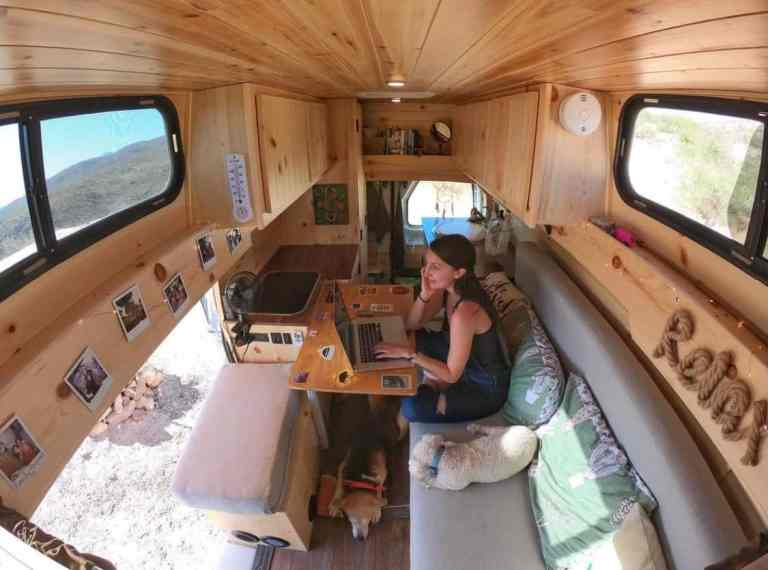 Working remotely while living in a van