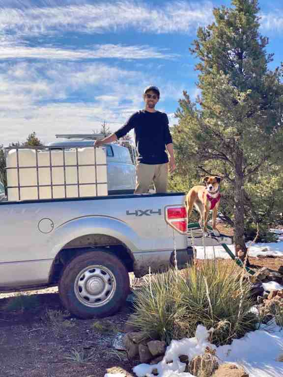 the cost of hauling water when living off grid