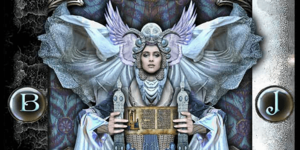 Detail of the High Priestess from the Tarot Illuminati