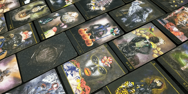 Dust II Onyx, by Courtney Alexander, cards laid out horizontally