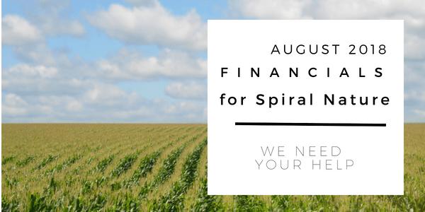 Financials for Spiral Nature August 2018