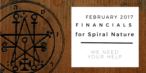 Financials for Spiral Nature February 2017