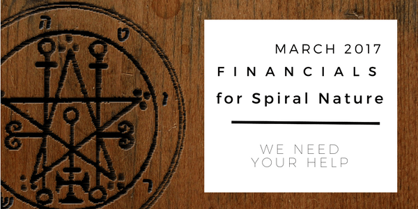 Financials for Spiral Nature March 2017