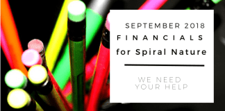 Financials for Spiral Nature September 2018