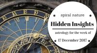 Hidden Insights: Astrology for the week of 17 December 2017