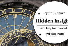 Hidden Insights: Astrology for the week of 29 July 2018