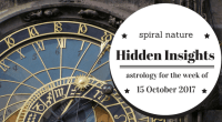Hidden Insights: Astrology for the week of 15 October 2017
